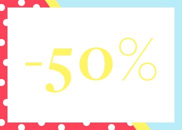 Descuento del 50%